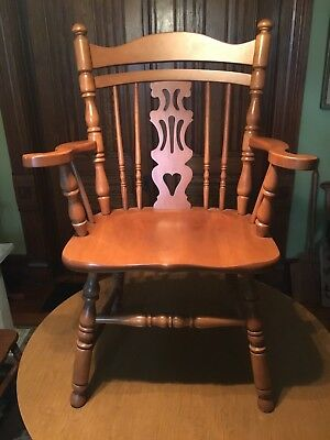 Tell City Arm Chair 8077 Andover 48 Finish Hard Rock Maple Great Shape!