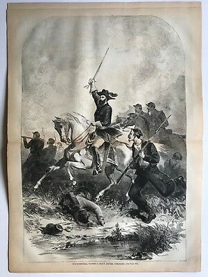 "Harper's Weekly 6/13/1863 WINSLOW HOMER ""Home from War""  US Grant Centerfold"
