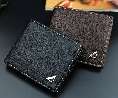 Cool Boy's Men's Wallets Slim Bifold Leather Credit Card ID Holder Wallet Purse