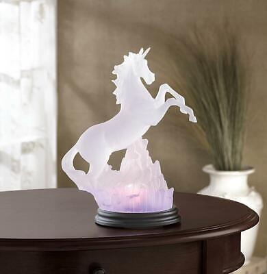Mystical Frosted UNICORN LIGHT Statue