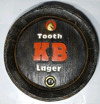 Collectable Tooth KB Lager Beer Barrel End