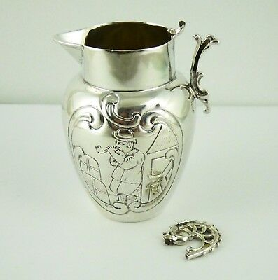 Antique Berthold Muller Hallmarked  Sterling Silver Cream Jug A/F LAYBY