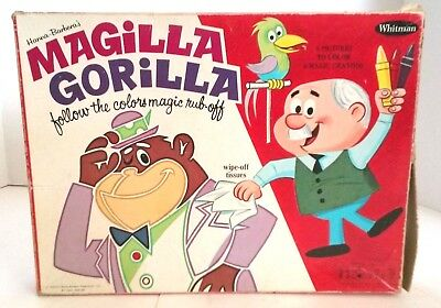 Very Rare Magilla Gorilla Follow Colors Magic Rub-Off Hanna-Barbera 1965 Crayons