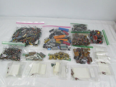 Large Lot of Vintage Capacitors Resistors and More 7 lbs+