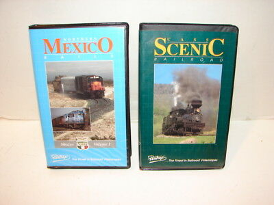 2 Train Railroad Vhs Tapes Video Show Pentrex Cass Scenic & Northern Mexico