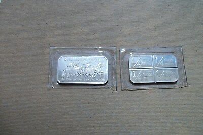 "1oz .999 SILVER ""DIVISIBLE"" BAR ""STAGECOACH"" FROM NORTHWEST TERITORIAL MINT"