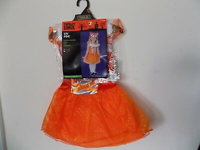 Brand New Totally Ghoul Lil' Fox Girl Halloween Costume 2 - 4T Order by Oct 24th