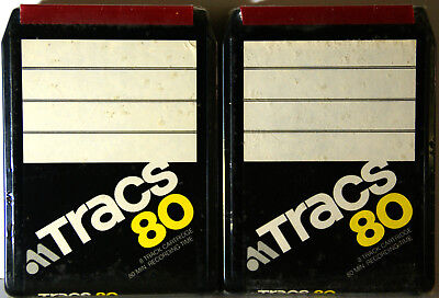 Audio Magnetics TRACS80 BLANK 8 TRACK TAPE 2 Tapes 80 minutes each