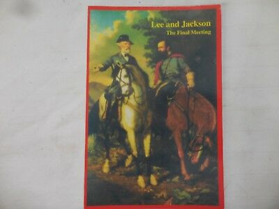 """Post card  """"LEE and JACKSON"""" The Final Meeting"""