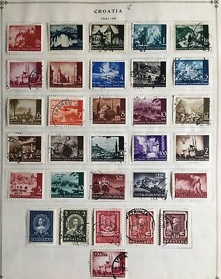Croatia Stamp WWII Complete 1941-45 Page Mint/used HR Collection W3-54