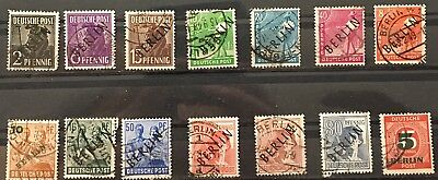 BERLIN GERMANY 14 UNHNG V-XF Black overprint stampS Great Collection X3/67