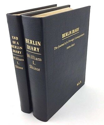 Easton Press BERLIN DIARY 2 Volumes by William Shirer Collectors Edition Leather