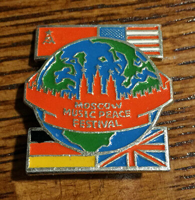 Moscow Music Peace Festival 1989 pin badge USSR