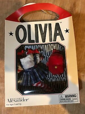 Madame Alexander OLIVIA the PIG SCHOOL DAYS outfit With box Brand New