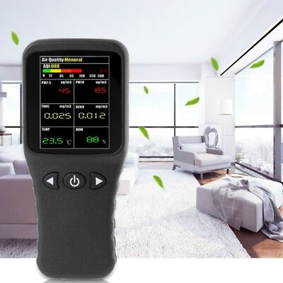 Air Quality Detector 6in1 PM2.5 PM10 TVOC HCHO Formaldehyde Humidity Temperature