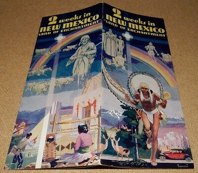 1938 Brochure 2 Weeks in NEW MEXICO Land of Enchantment