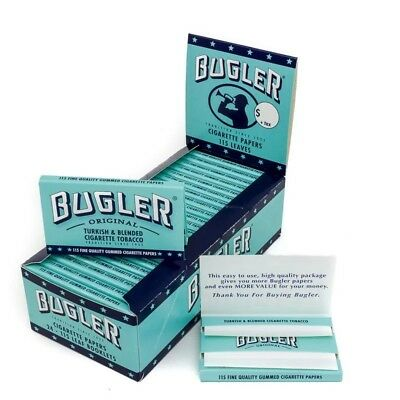 Bugler Cigarette Rolling Papers 24 Packs Booklets Box- 115 Leaves Per Pack New