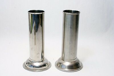 2 WW2 US Military Medical Surgical POLAR WARE Stainless Industiral Modern Vase