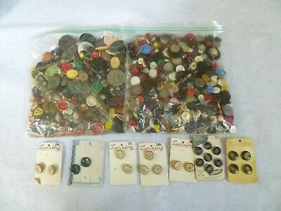 4lb Lot of Vintage Antique Buttons *Used*