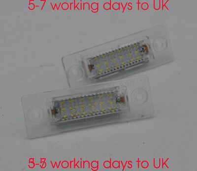2x No error LED Licence Number Plate Light For VW Transporter T5 Golf Plus Caddy