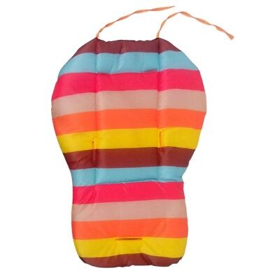 Baby Infant Stroller Seat Pushchair Cushion Cotton Mat Rainbow Color Soft T A5S9