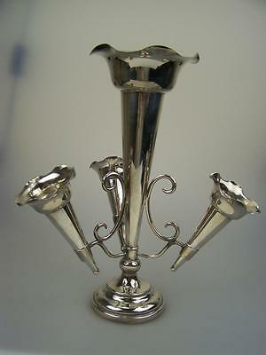 c1910 English EPNS 4 trumpet epergne table centrepiece in excellent condition