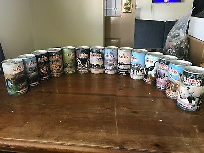 Collectible Beer Cans (empty) - Lions Lager African Wildlife complete set of 14
