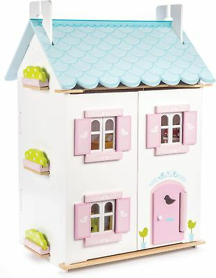 Le Toy Van DOLLHOUSES BLUE BIRD COTTAGE INC FURNITURE Wooden Dolls House BNIP