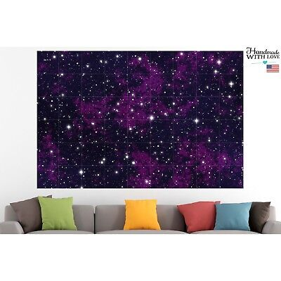 Galaxy Stars Poster Canvas Print Cosmos Wall Art Pin Up Room Decor Home Decor