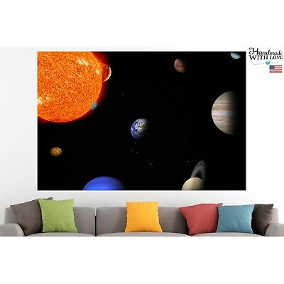 Solar System & Planets Poster Canvas Print Wall Art Pin Up Room Decor Home Decor