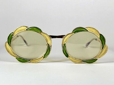 eabd818d6c1d Vintage Rare Christian Dior Enamelled Flower Jewell 1960 s Sunglasses France