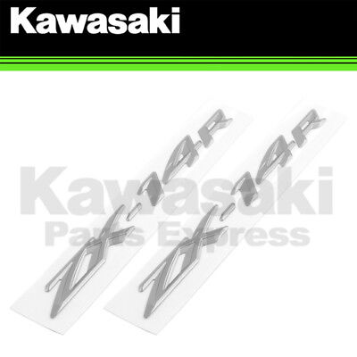 New 2012 - 2015 Genuine Kawasaki Ninja Zx-14R Rear Tail Emblem Badge - 2 Pack