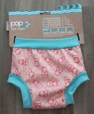 Brand New Close Parent Pop In Swim Nappy Pink Teal Russian Dolls Extra Large Xl
