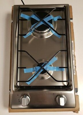Indesit Stainless Steel 2 Ring Gas Hob Kitchen | Campervan | Canal Boat | Yacht