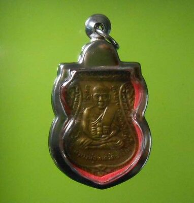 Great Lp Tuad Old Thai Buddha Amulet Pendant Very Real Rare !!!