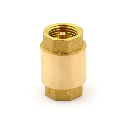 1/2'' NPT Brass Thread In-Line Spring Check Valve Backstop Valve Rod Core Thr ES