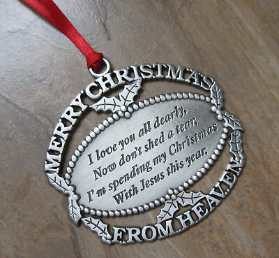 merry christmas from heaven pewter ornament - Merry Christmas From Heaven Ornament