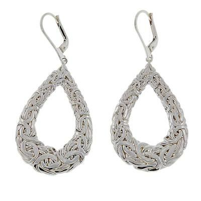 Sevilla Silver Byzantine PearShaped Drop Earrings