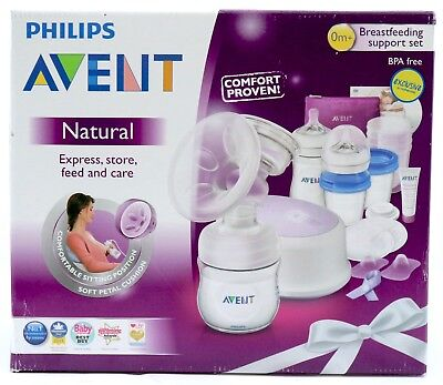 Philips Avent Breastfeeding Support Set 0m+ 53pcs Inc Electric Pump BPA Free