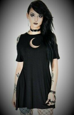 Lost Queen Goth Emo Spooky Spider /& Spiderweb Black Mesh Lace up Top
