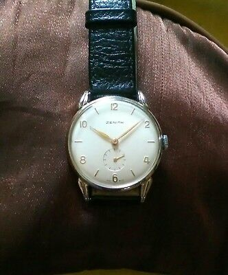 ZENITH CAL 106 Swiss Made Vintage anni 40 Ind. L. Oro Anse a Ragno ... c8f706b31d7