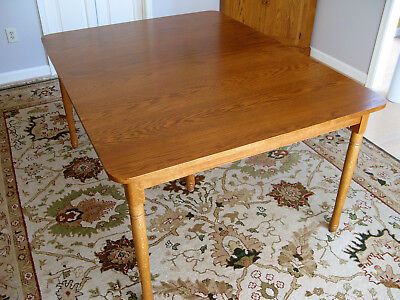 Vintage E.A. Clore Sons Solid Oak Six Leg Extension Dining Table with 4 Inserts