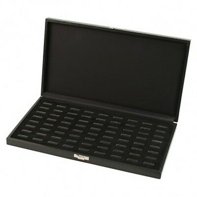 Black Ring Case - Holds 72 Rings w/Front Latch - Display /Store / Organize