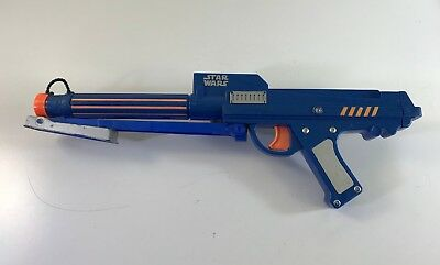 2006 Nerf Blue Star Wars Clone Trooper Dart Gun Blaster Rifle