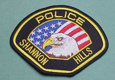 Shannon Hills  Arkansas  Ar  Eagle / Flag  Police Patch  Nice!  Free Shipping!!!