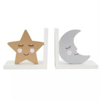 Sass and Belle Sweet Dreams Star & Moon Bookends Baby/ Childrens/ Nursery /Gift