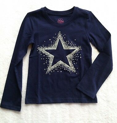 New With Tags Girls Long Sleeve Blue Faded Glory Shirt Size Xs 4-5 Star