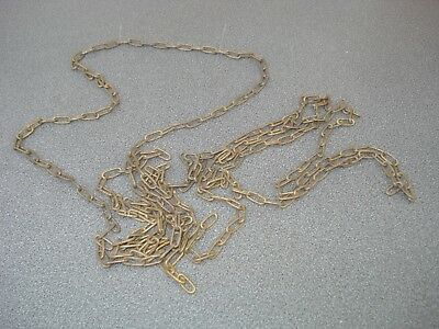 "Solid Brass Clock Chain 100"" Long 13.1 X 5.8 Mm Link 1.5 Mm Wire Parts Spares"