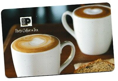 Peet's Coffee & Tea no value collectible gift card mint #14 Two Cups