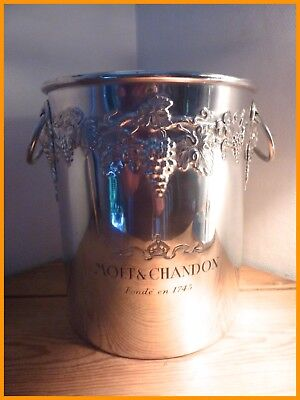 Seau À Champagne Moët & Chandon Argit France Décor Raisin Relief Ice Bucket